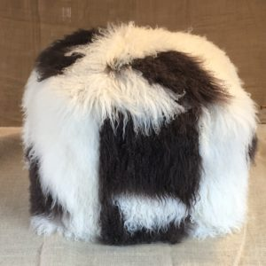 brownandwhite mongolian pouffe